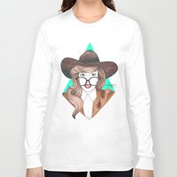 nerd Long Sleeve T-shirts featuring Nerd by Andres Estrada