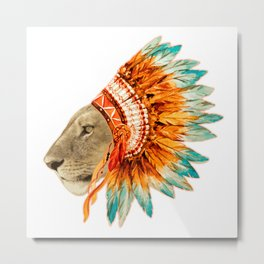 The Feminist - Chief Lioness - colors Metal Print