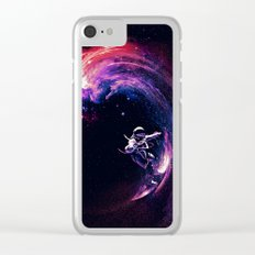 Space Surfing Clear iPhone Case