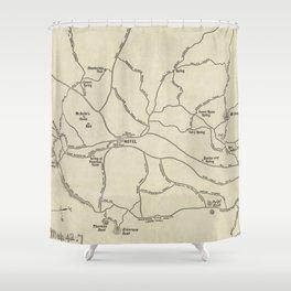 Vintage Mount Monadnock Trail Map (1910) Shower Curtain