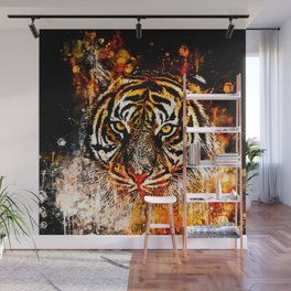 tiger head portrait wsb Wall Mural