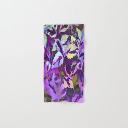 More Lovely Leaves, Purple Shades Hand & Bath Towel