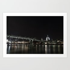 Millennium Bridge, London Art Print