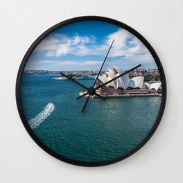 Sydney Harbor and Sydney Opera House Wall Clock