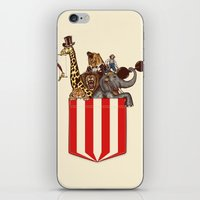 pocket iPhone & iPod Skins featuring Pocket Circus by Sachpica