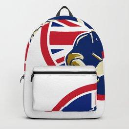 British Butcher Union Jack Flag Icon Backpack