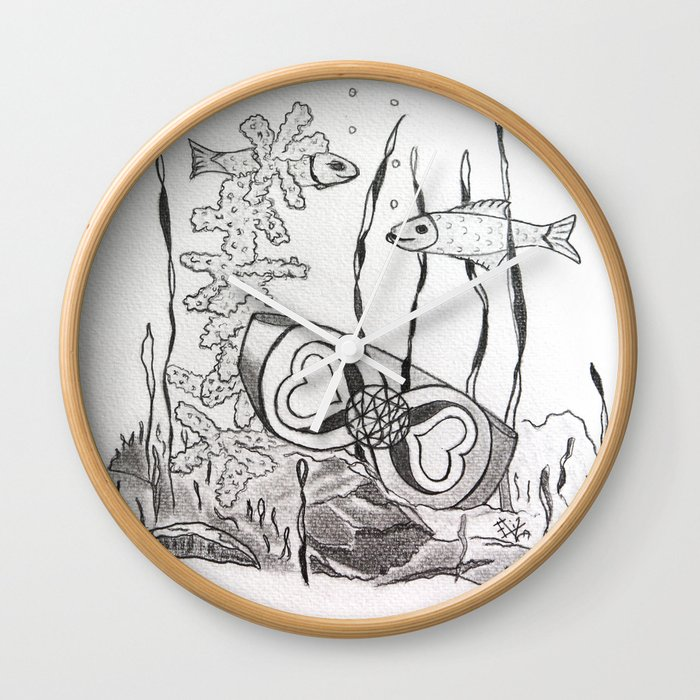 The Symbol Of Eternal Love Wall Clock By Anneelisabethnitteberg