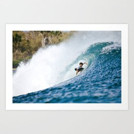 G-Land with Surfer Art Print
