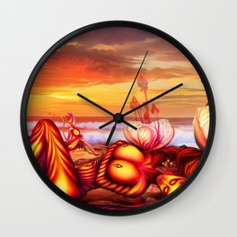 Late evening Wall Clock