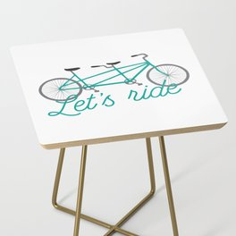 Let's Ride Tandem Bicycle - Teal Side Table