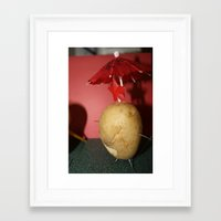 potato Framed Art Prints featuring Potato  by Alyssa Cortes