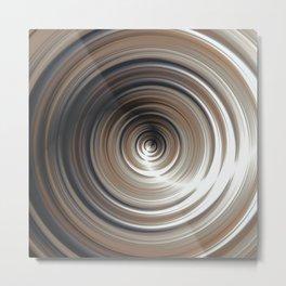 Cosmic Swirl: digital art with concentric circles Metal Print
