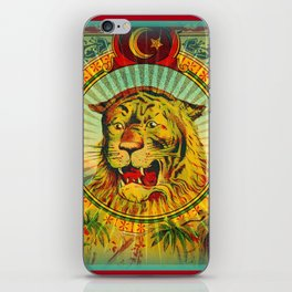 Tiger Fez Label iPhone Skin