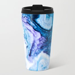 Blue marbled paper Travel Mug