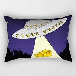 I Love Cheese Rectangular Pillow