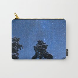 Shimmering Blue Night Sky Stars Carry-All Pouch