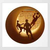 football Art Prints featuring Football by Anastassia Elias