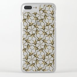 Cactus Spine Pattern - Succulent Geometric Shapes - Cactus Botanic Pattern - Sharp & Spiny Design Clear iPhone Case