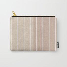 Two Tone Stripes - Warm Neutral Carry-All Pouch
