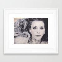 kit king Framed Art Prints featuring Artist Kit King by Brittni DeWeese