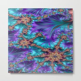 Boundary and Conflict Fractal - abstract art Metal Print