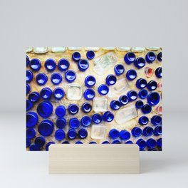 Colored Glass Bottle Wall 2 Mini Art Print
