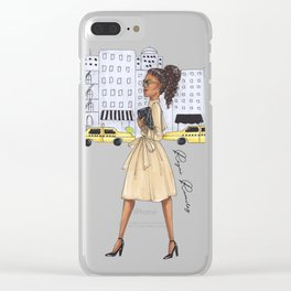 New York girl Clear iPhone Case