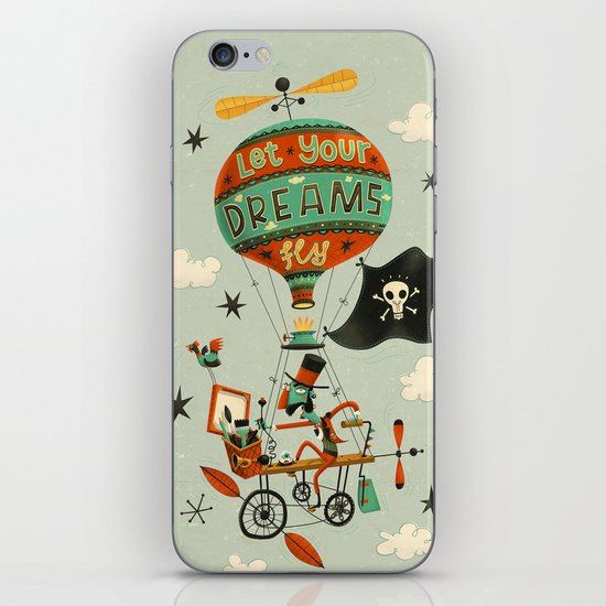 Make Your Dreams Fly iPhone & iPod Skin