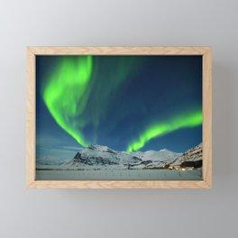 Northern Lights at Twilight Framed Mini Art Print