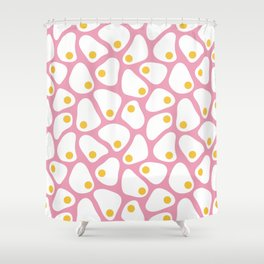 Fried Egg Pattern Shower Curtain