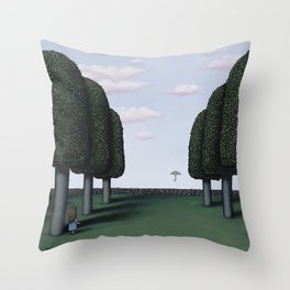 The First To See It Throw Pillow