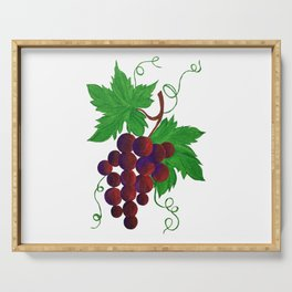 Purple Grapes on vine Serving Tray