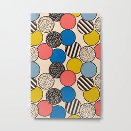 Memphis Inspired Pattern 5 Metal Print