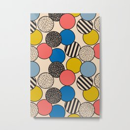 Memphis Inspired Pattern 5 Metal Print