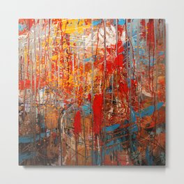 Dripping Wall Metal Print