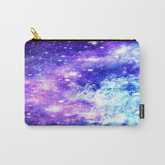 Chaotic Space : Galaxy Bright Purple & Blue Carry-All Pouch