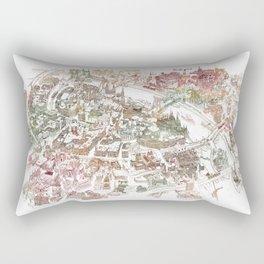 Budapest Handmade Cityscape Map  Rectangular Pillow
