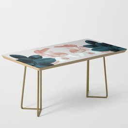 Blush & Blue Leaves Coffee Table