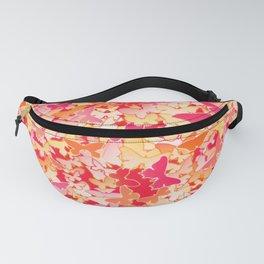 Butterflies, Fuchsia Pink, Peach, Coral Orange Fanny Pack