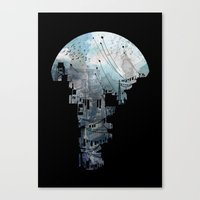 india Canvas Prints featuring Secret Streets II by David Fleck