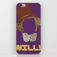 roald dahl iPhone & iPod Skins featuring Willy Wonka and you by Ally Simmons