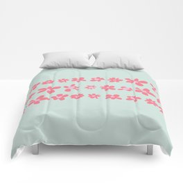 Daisy Chain in Petal Pink and Mint Green Comforters