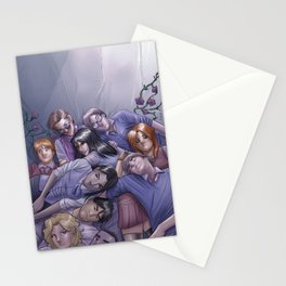 Morning Glories Skins Stationery Cards