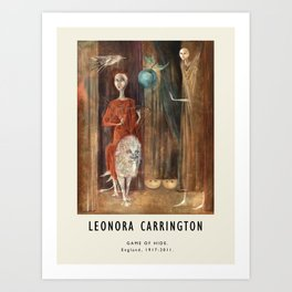 Poster-Leonora Carrington-Game of hide. Art Print