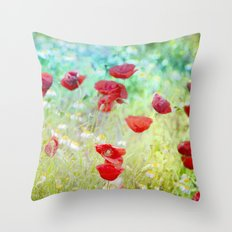 Poppies dreams Throw Pillow