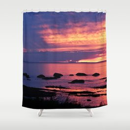 Sunset on the Mighty St-Lawrence Shower Curtain