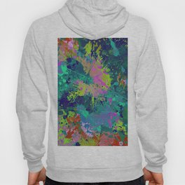 Messy Art I - Abstract, paint splatter painting, random, chaotic and messy artwork Hoody