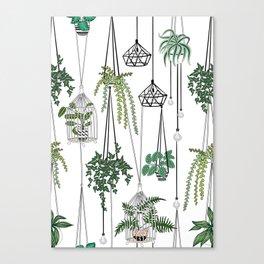 hanging pots pattern Canvas Print