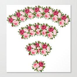 wifi flower Canvas Print