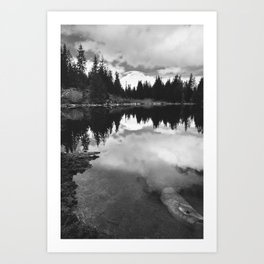 Mirror Lake BW Art Print